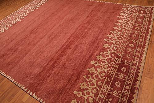 Persian Designs Sanderson–Persa Alfombra de Lana Hecho a Mano Tradicional Estilo contemporáneo Alfombra de Lana y Alfombra, 100% Lana, Rojo, 5x8 (152x244) cm