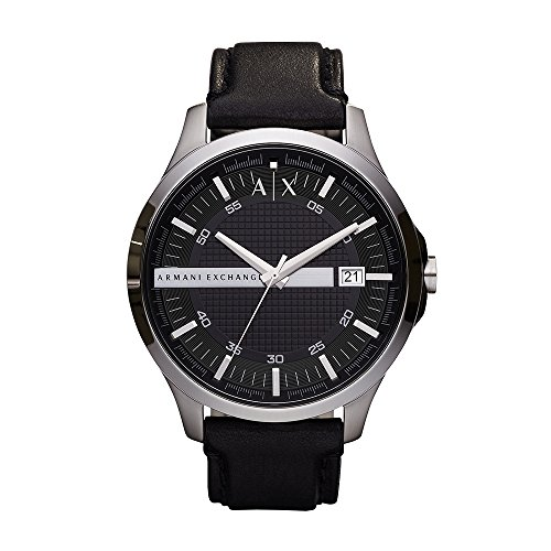 Armani Exchange Men's Analog Quartz Watch with Leather Strap AX2101