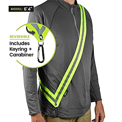 MOONSASH XL – Patented Reflective Night Safety Gear for Big/Tall or Over a Jacket > Reversible, Comfortable, Practical & Stylish Safety Accessory