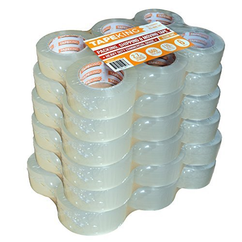 Tape King Clear Packing Tape - XL 110 Yards Per Roll (36 Rolls) - 1.88 Inch Wide Stronger & Thicker 2.7mil, Heavy Duty Adhesive Industrial Depot Tape for Moving Packaging Shipping and Commercial