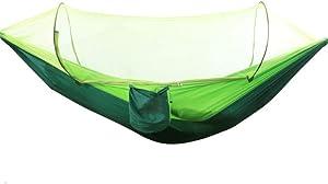 BMY Hamaca Mosquiteras Doble para Adultos al Aire Libre Interior Dormitorio para Dormir Columpios para el hogar Paracaídas Coctelera Mosquitera Salvaje