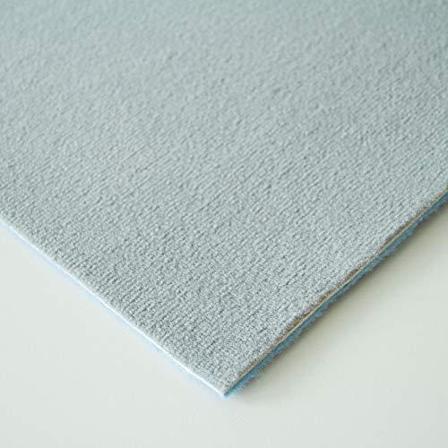Steffensmeier Velours Teppichboden Verona Meterware | Auslegware für Kinderzimmer Wohnzimmer Schlafzimmer | Grau, Größe: 400x400 cm