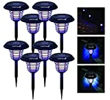 9. LIGHTSMAX Solar Powered Light Mosquito & Insect Bug Zapper Cordless LED/UV Radiation Repellent Lamp | Fly Pests Outdoor Stake Landscape Fixture for Camping, Gardens, Pathways, and Patios (8)
