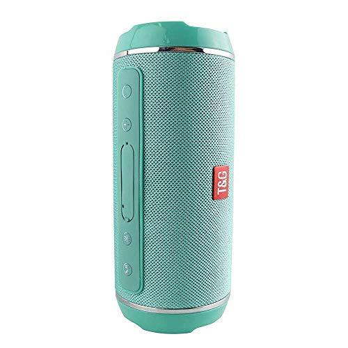 PinShang - Altavoz inalámbrico Bluetooth, 40 W, bajo estéreo, impermeable, USB/TF/AUX, reproductor de música portátil MP3