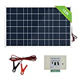 ECO-WORTHY 10W Solar Panel System kit + Solar Charge Controller + 30A Battery