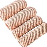 HEALLILY Zehenschutz Silikon Gel Zehentrenner Zehenkappen Abdeckung Bandage 1 Paar -