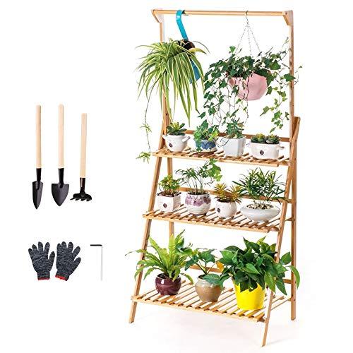 Estantería de Macetas Estante de Plantas Soporte Decorativo para Jardín, Estantería para Plantas...