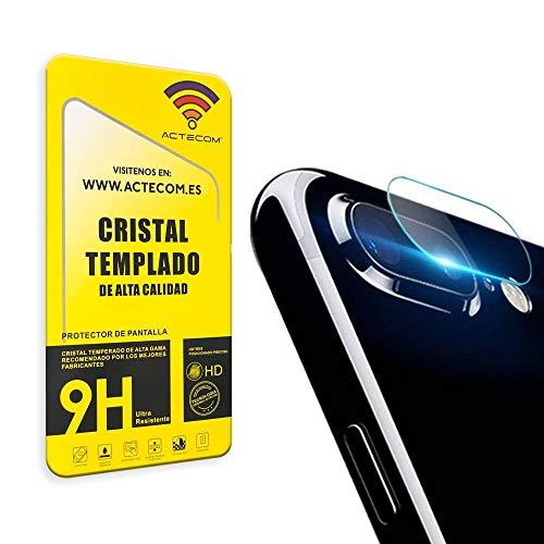 actecom Protector Camara Compatible con iPhone 7 Plus / 8 Plus Cristal Vidrio Templado Camara