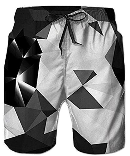 Idgreatim Männer Strand Shorts 3D Diamant Print Lustige Lounge Tragen Hosen Surfen Shorts Pyjama Bottoms Jogger Hosen M