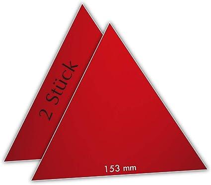 Drivezero Retroflexx 2 Reflektor Dreiecke 153 Mm Für Anhänger Sport Freizeit