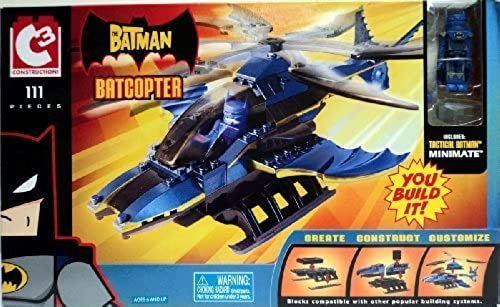 el mas reciente C3 Construction Batcopter with Tactical Batman Minimate by by by Jakks Pacific  popular