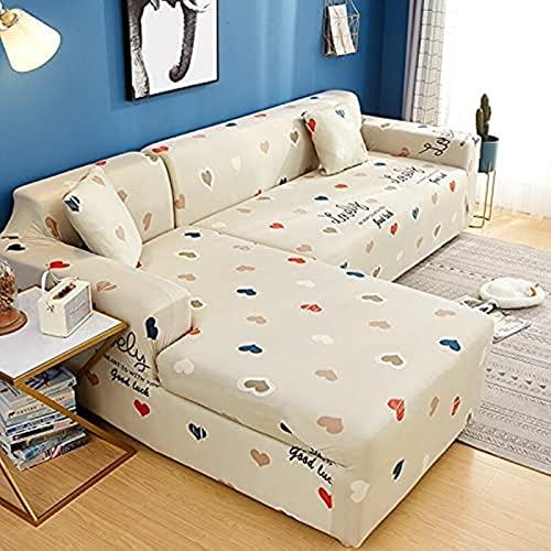 hd-3 La Funda de sofá elástica es Adecuada para el sofá General Funda de sofá Modular en Forma de L Funda de sofá Antideslizante Envuelta herméticamente A19 3 plazas