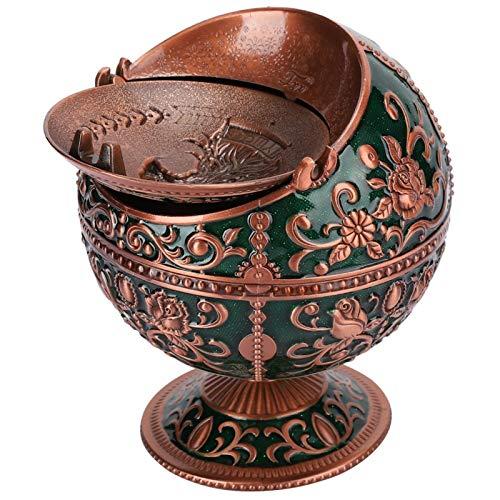 SALUTUYA Metal, cenicero de Bolas, cenicero de Mesa, Bandeja, para Adornos artesanales para decoración de oficinas