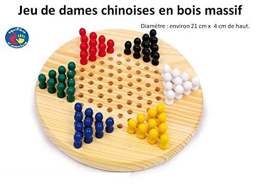 Equilibre et Aventure Jeu de Dames Chinoises en Bois - Livraison Gratuite