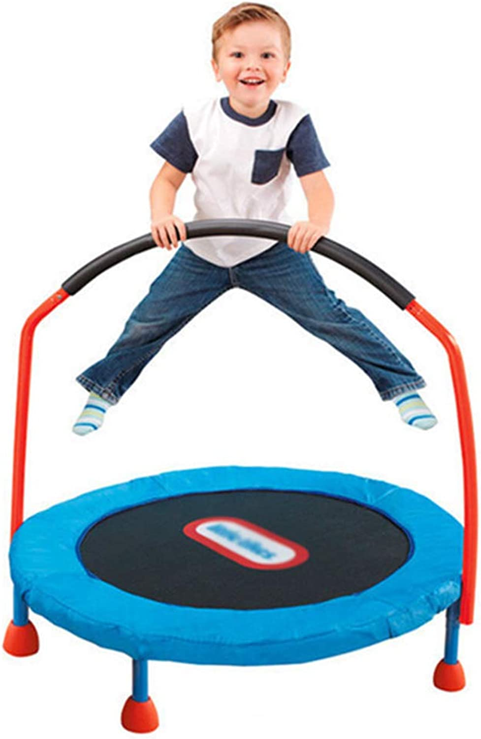 Trampolines Trampoline Indoor Household Trampoline Foldable Trampoline Trampoline with armrests Can Bear 25 kg (color   blueee, Size    139.5  30  110136cm)