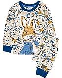 Peter Rabbit Pyjamas Baby Kids | Soft Costume T-Shirt & Trousers Pjs Set | Clothing Merchandise 18-24 Months Blue