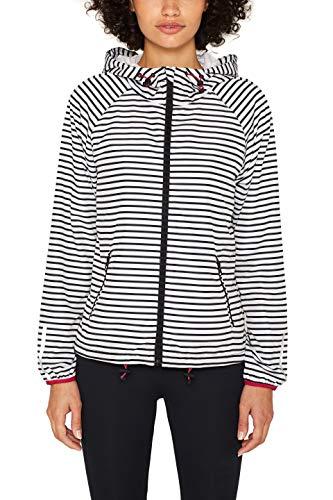 ESPRIT Sports Damen JKT Wv AOP Jacke, Weiß (Off White 3 112), 38 (Herstellergröße: M)