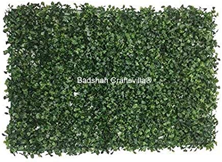 Artificial Vertical Garden Coriander Leaf Tiles/High Density (60 cm x 40 cm)(Pack of 10) by Badshah Craftsvilla®