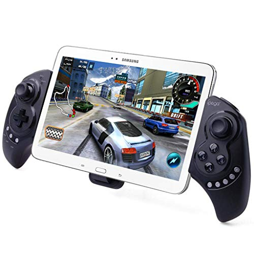 iPega PG-9023 Kabelloser Gamepad Game-Controller, ausziehbarer Teleskop-Joystick für 5-10-Zoll-Tablets Handys, kompatibel mit PC, Android, Samsung Galaxy Tab S3 S2 Note 9 Galaxy S9+ S8+ Lenovo Huawei
