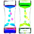 Big Mo's Toys Liquid Motion Bubble Timer - Rectangular Sensory Relaxation Water Toy - Assorted Colors, 1 Piece