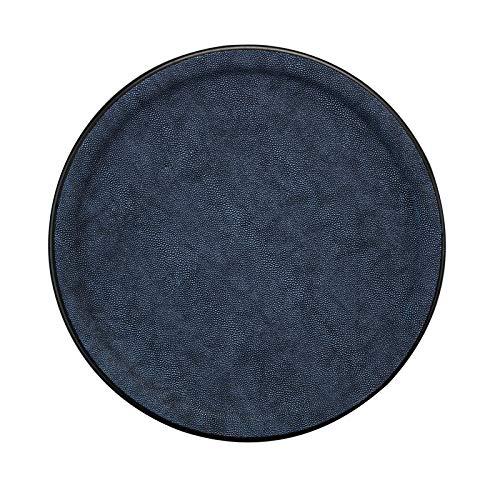 PLATEX 90036826 Plateau Plastique-GALUCHAT, Bleu Marine, 36cm
