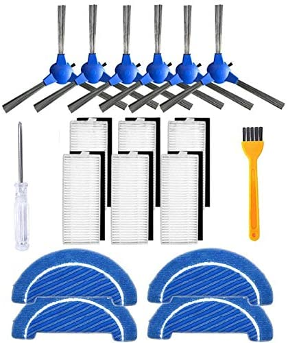 Vacuum Cleaner Replacement Kit Side Brush Filter Mop Cloth Kit C