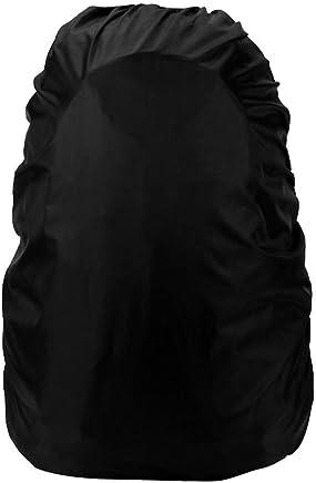 Okayji Waterproof Dust Rain Cover for Outdoor Sports Backpack Camping Rucksack Bag 30L-40L (Black)