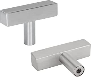 homdiy Kitchen Cabinet Knobs Brushed Nickel 30 Pack HDJ22SN Single Hole Pulls with 2inch Overall Length Brushed Nickel Doo...