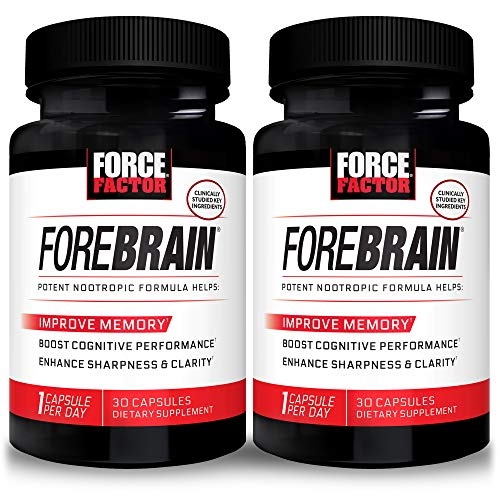 Force Factor Forebrain Nootropic Brain Supplement to Improve Memory, 60 Count