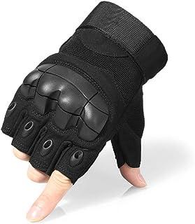 Cozone Guantes de Moto Medio Dedo nudillo Duro y C...