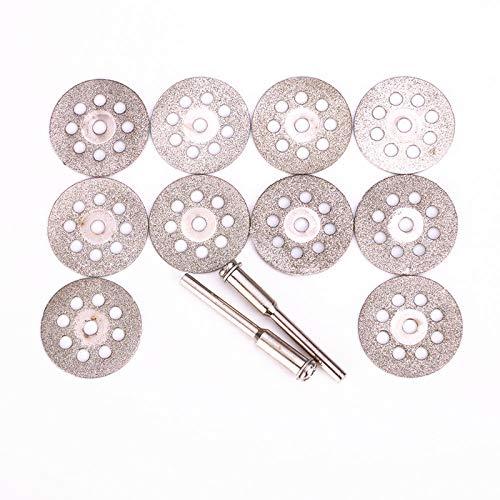 10pcs Circular Saw Blades Cutting Wheel Discs+2pcs Mandrels Set Rotary Tool Carbon Steel Drill Accessories Hard Material Cutting