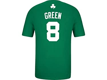 Adidas Jeff Green Boston Celtics Green Jersey Name und Nummer T-Shirt