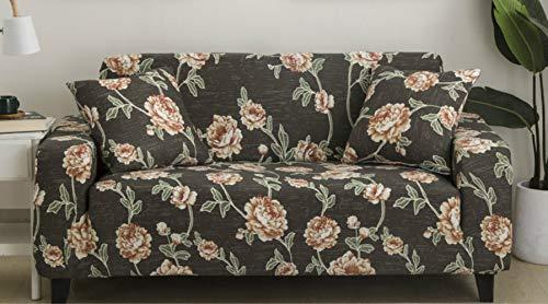 Funda de sofá con estampado elástico de color gris, antideslizante, para salón, dormitorio, estudio, combinación de sofá