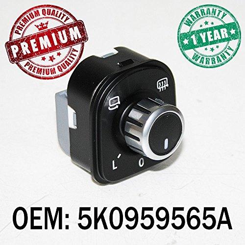 Chrome Miroir chauffant électrique commutateur Ajusteur Cadran OEM 5 K0959565 a