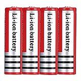 Kally 18650 3,7V de Alta Capacidad 4200mAh Pilas Recargable de Iones de Litio Linterna Portátil Baterías de Repuesto (4 Baterías)