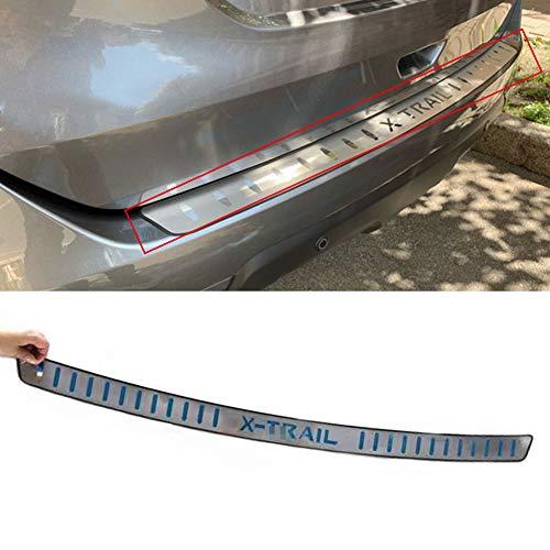 Edelstahl Ladekantenschutz für Nissan X-Trail X Trail T32 2014-2019, Chrom Heckstoßstangenschutz Schutzleiste, Stoßstangenschutz Stylingleisten Zierverkleidungen Auto-Styling-Zubehör