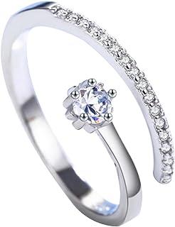 Freedi Women Diamond Open Rings Adjustable Wedding Engagement Rings Fashion Jewellery Gift for Girls