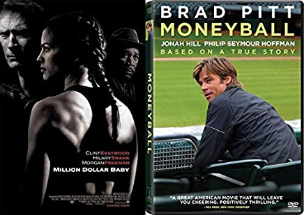 Sports Drama Films: Moneyball True Story & Million Dollar Baby Clint Eastwood 2-DVD Movie Set
