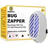 HENSITA Electronic Bug Zapper- Indoor Insect Trap for Mosquitoes, Fruit Flies and Flying Gnats - Fly and Insect Zapper for Indoor and Outdoor with UV Light  - Eco-Friendly Insect Killer (1 Pack)