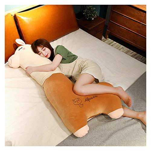 XIAN Peluche gigante de alpaca, bonito cojín de cordero blanco, largo para dormir en el lado de la pierna, almohadones para niños recién nacidos, para acompañar a dormir, regalo de cumpleaños 344