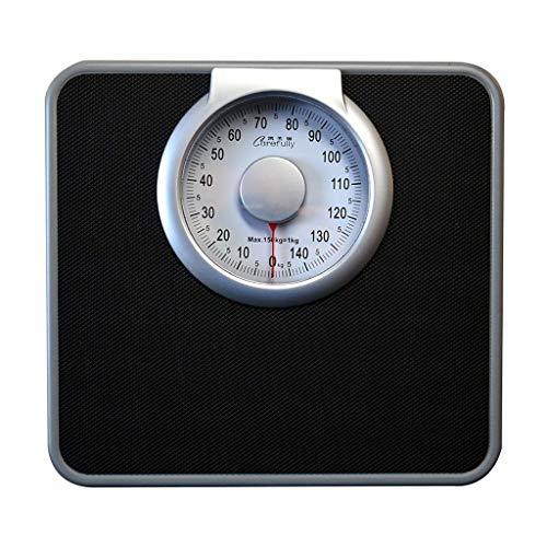 DYB Báscula mecánica Cuadrada, báscula de Salud de Peso para el hogar con Esfera Redonda, para Uso en baños de hoteles y gimnasios, 150 kg / 330 LB