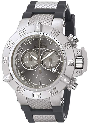 9b4576e8357 If you want to buy Invicta Men s 1382 Subaqua Noma III Chronograph Silver  Grey Sunray Dial Grey Silicone Watch good quality at reasonable price in  the ...