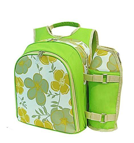 Gycdwjh Picknicktasche Kühltasche, für 2-4 Personen Picknickset Wasserdicht Picknickrucksack mit Kühlfach und Campinggeschirr Thermotasche Klein für Outdoor Picknick,2 Servings