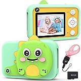 XDDIAS KinderKamera, Digitale Kamera mit 32G SD Karte, USB Wiederaufladbare Fotokamera Selfie und Videokamera, Spielzeug Camcorder für Jungen Mädchen Kinder Geschenke - Grün
