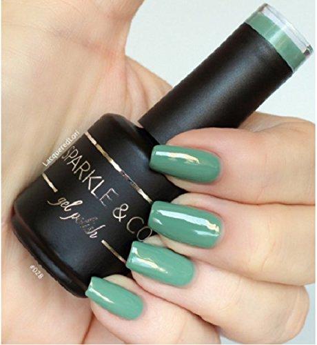 Sparkle & Co. Gel Color 028 Solid Sage Green Soak Off UV/LED Gel Nail Polish 15ml