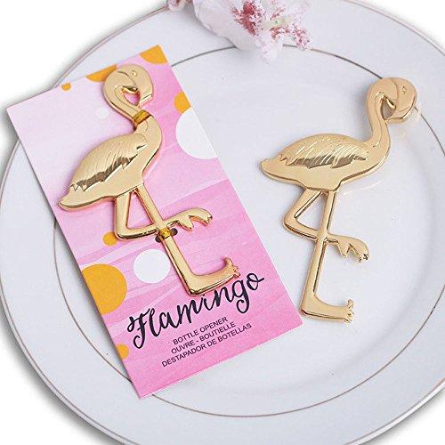 Gold Flamingo Bottle Opener for Wedding Party Favor Set of 20