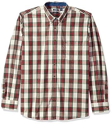 IZOD Men's Slim Fit Heritage Long Sleeve Button Down Tartan Shirt