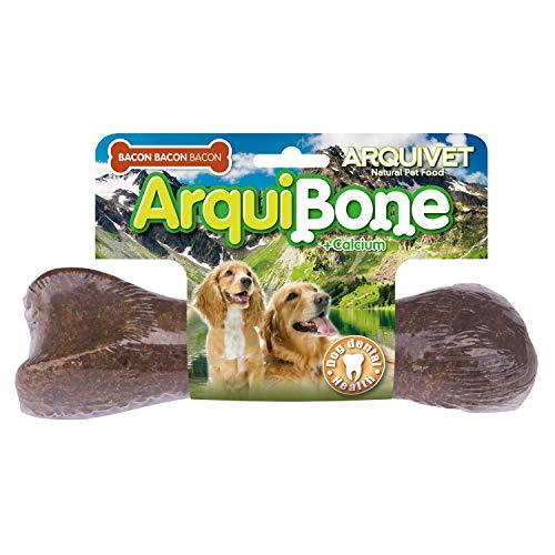 ARQUIVET - Arquibone Bacon 20 cm - 265 g- Hueso grande para perros - Snack natural para perros - Hueso para masticar - Alimento complementario para perros