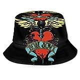 Vhsyudgdyi Bucket Hat for Bon Jovi Logo 3D Unisex Sun Outdoor Wide Brim Hats Unisex Summer Fishing Cap