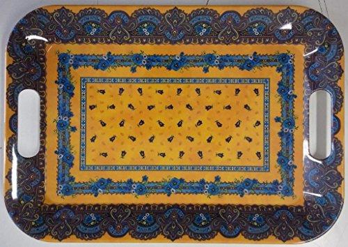 Plateau mélaminé tradition jaune 28 cm x 40cm